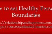 How to set Healthy Personal Boundaries