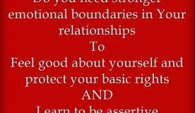 Do you need stronger emotional boundaries in Your relationships